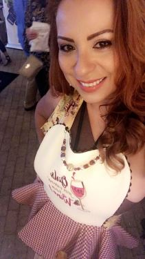 Couture Aprons wore by Bonnie Morazan