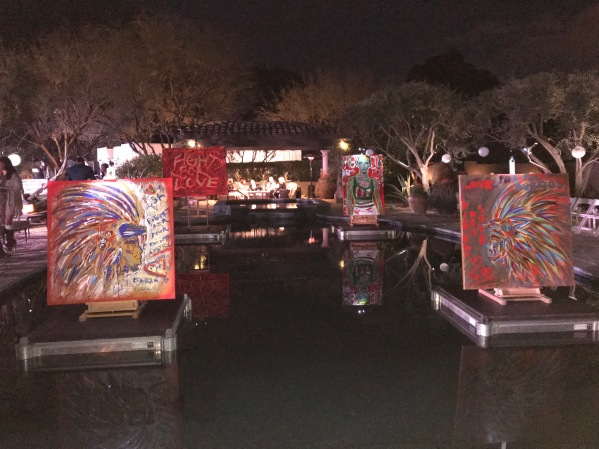 Art display on water