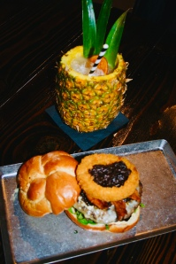 DA' LOLA BURGER & PINEAPPLE DELIGHT